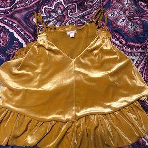 Velvet Gold/Yellow Top